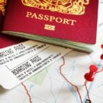 passports with boarding passes