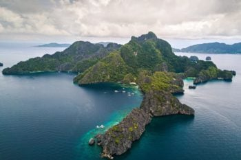 Visiting the Philippines: Aerial view of islands in the Philippines
