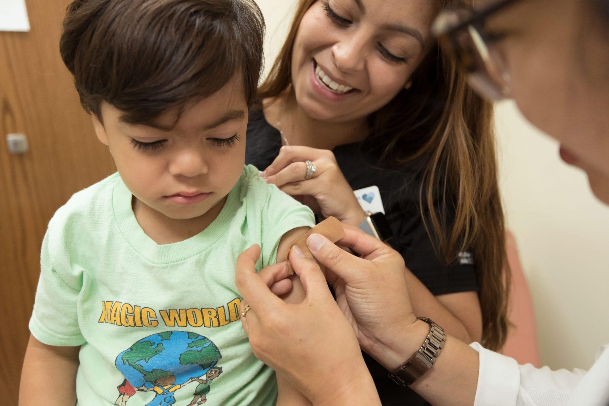 chilean boy receiving health care