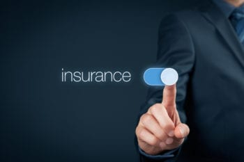 Insurance with touch screen slider button
