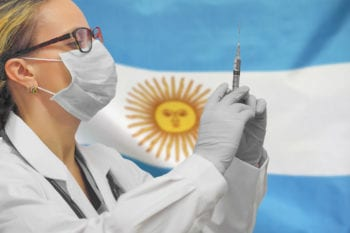 Female doctor in Argentina.