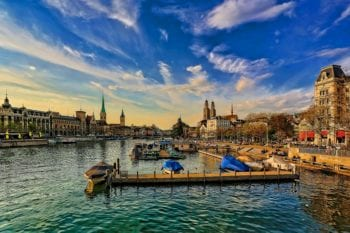 Zurich Switzerland's waterfront