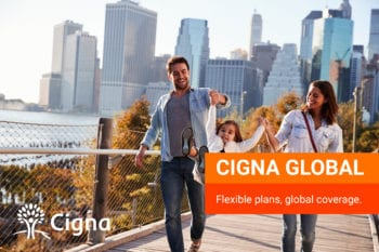 Expat family insured by Cigna Global living and working abroad