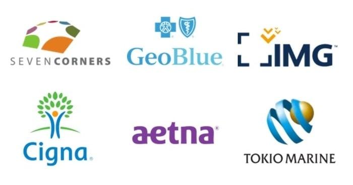insurance logos - cigna, geoblue, aetna, img