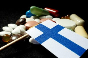 Finnish flag with pills